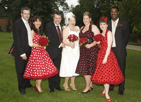 38 Chic Polka Dot Bridesmaids Dresses Hywedd Pinterest