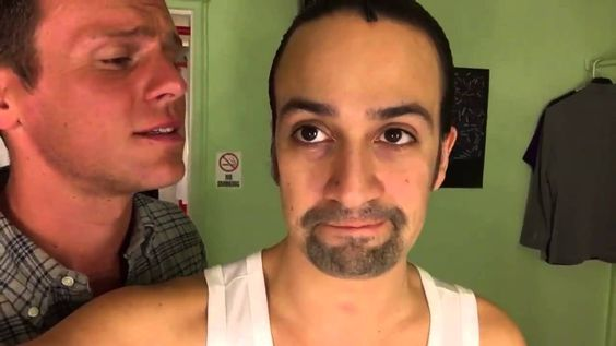 Jonathan Groff and Lin Manuel Miranda. This is the greatest thing. Lin tries so hard