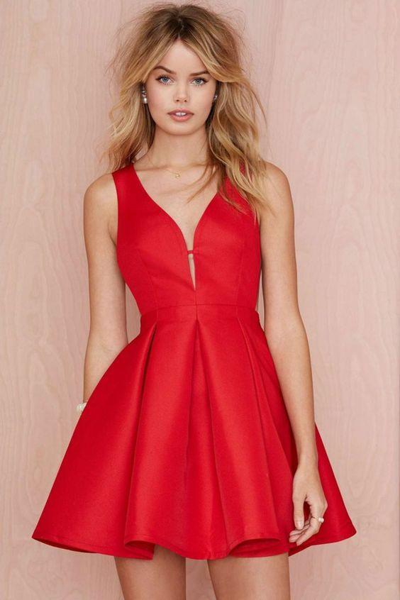Robe rouge pour soiréе: