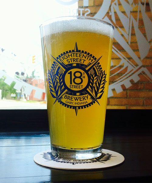 18th Street Brewery 16 oz. Pint Glass