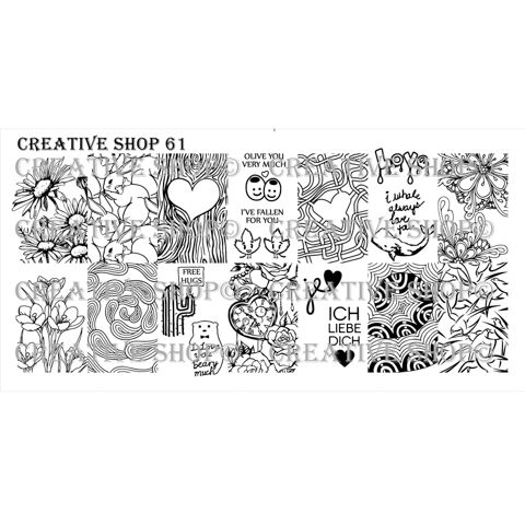 Creative Shop- Stamping Plate- 61