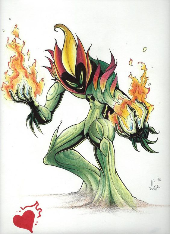Swamp Fire Made With Prisma Color Pencil By Wccomics Ben 10 Comics Ben 10 Ben 10 Alien Force