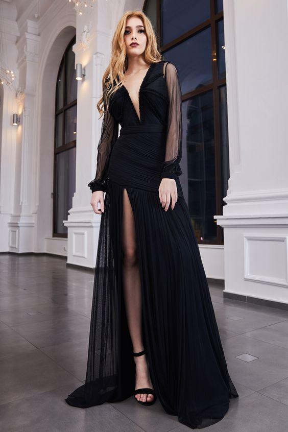 Vestido de formatura preto sensacional