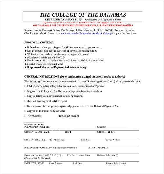 payment plan agreement template free word pdf documents sample - partnership agreements