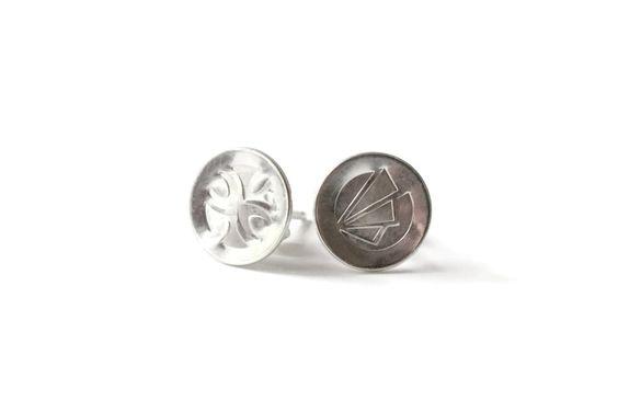 Sterling Silver Custom Stud Earrings