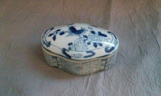 Japanese Porclain Trinket Box by TaylorJonesAntiques on Etsy