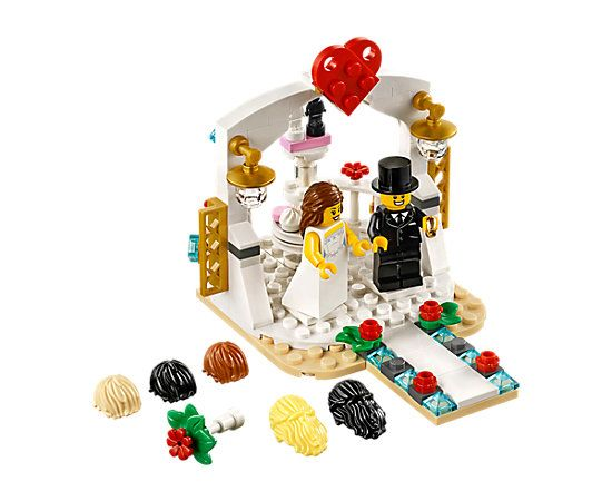LEGO 40165 Minifigure Wedding Favour Set Cake Topper Wedding Gifts
