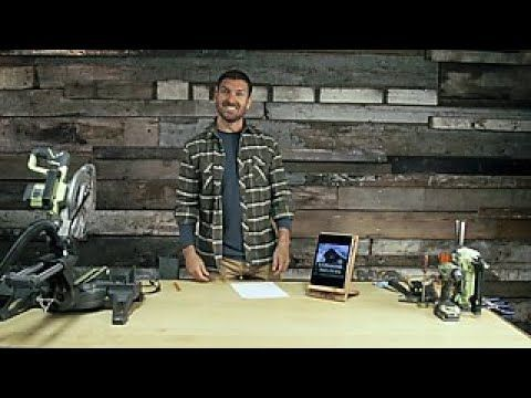 How To Make A Barnwood Tablet Stand Diy Network In 2020 Tablet Stand Diy Diy Network Diy Ipad Stand
