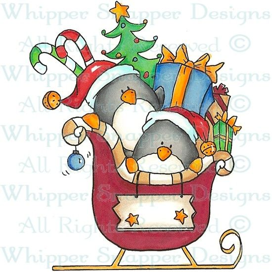 Penguin Christmas - Christmas Images - Christmas - Rubber Stamps - Shop