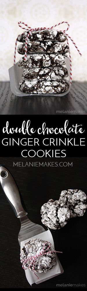 Just six ingredients stand between you and these chocolate-y holiday spiced cookies. With just a simple swirl of a spoon, these Double Chocolate Ginger Crinkle Cookies are ready for the oven and then onto a plate for you to enjoy! Perfect for holiday cookie exchanges!