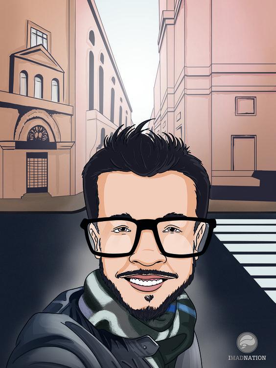 Caricatura baseada em uma foto especial!!!