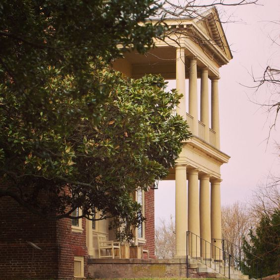 The porticos were added to the Great House in 1771 by Charles Carter.