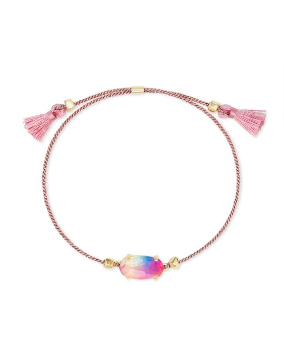 Everlyne Pink Cord Friendship Bracelet in Watercolor Illusion | Kendra Scott