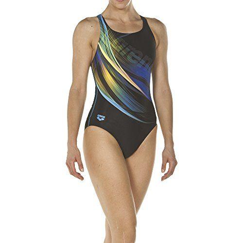 Schnelltrocknend, UV-Schutz UPF 50+, Chlorresistent arena M/ädchen Sport Badeanzug Water