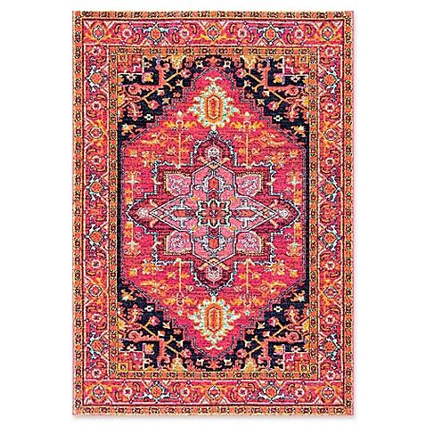 Bodrum Persian 4-Foot x 6-Foot Vonda Area Rug in Pink