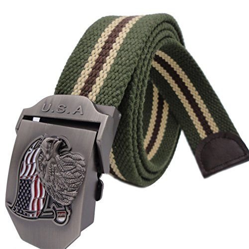 Queyu Men's Tactical Canvas Cotton Belts US Army Air Force