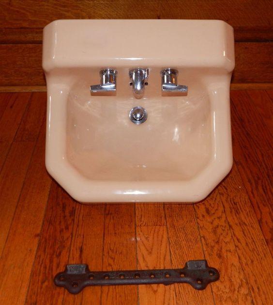 ... Wall Mount Bathroom Sink w/ Bracket Wall mount, Wall mounted