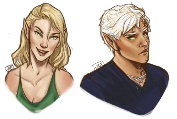 some actual ToG fanart- concepts for Aelin and Rowan (my loves)