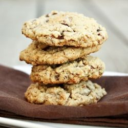 Toasted coconut, toffee, and chocolate chip cookies
