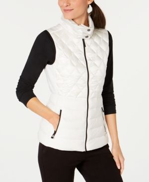 Calvin Klein Performance Quilted Down Vest White S Blazer Jackets For Women Calvin Klein Vest Vest White