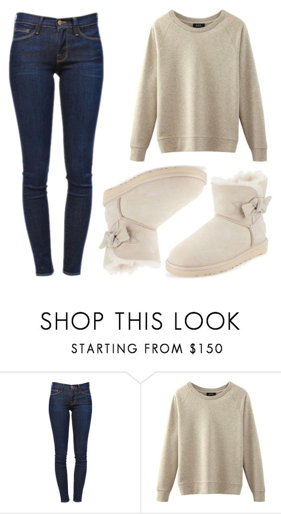 """Sin título #1826"" by lupitabelmont on Polyvore featuring moda, Frame Denim y UGG Australia"