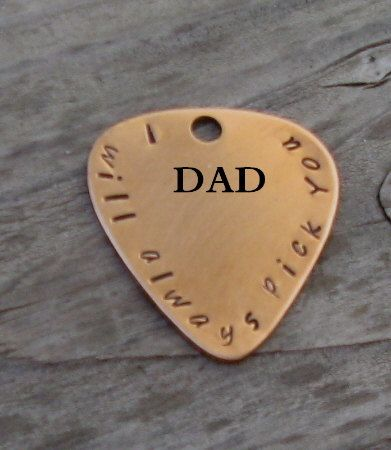 Guitar pick key chain I will always pick you by maggiemaybecrafty