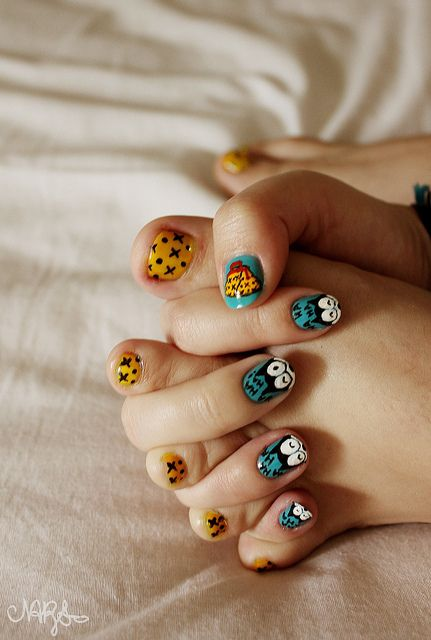 Felix, The Cat Nail Art