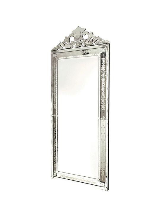 Shops floor mirrors and floors on pinterest for Floor vanity mirror