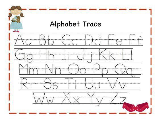 Number Names Worksheets : abc tracing worksheets for kindergarten ...