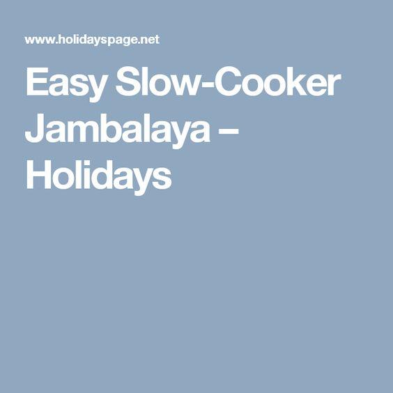 Easy Slow-Cooker Jambalaya – Holidays