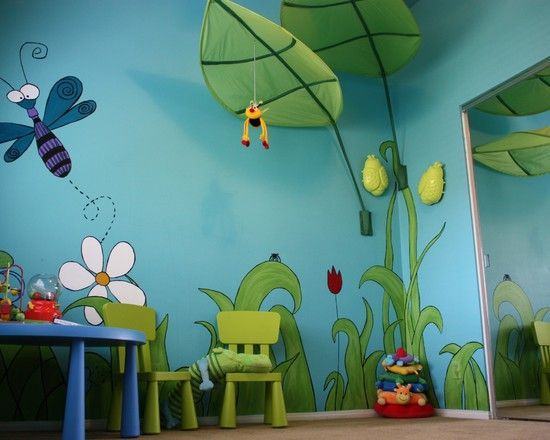 Wall Grace Design : Colorful nursery decorating ideas wall painting striking