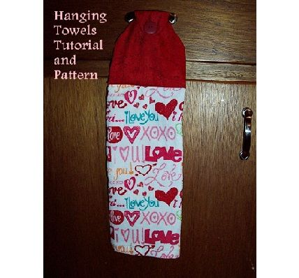 Nice kitchen towels and gifts on pinterest - Hanging kitchen towel tutorial ...