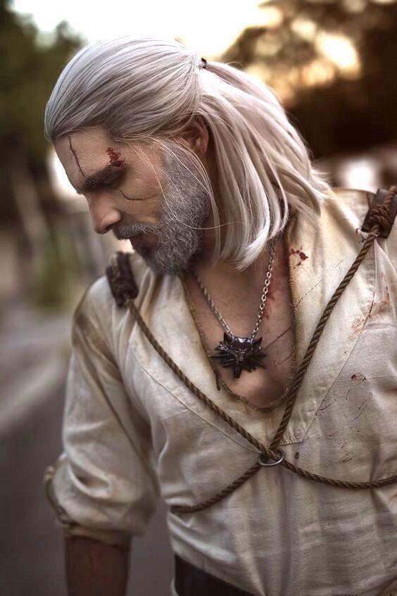 Geralt Of Rivia Hair : geralt, rivia, Wistedt, Witcher,, Geralt, Rivia,, Cosplay