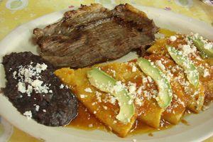 Cecina con Enchiladas, Gastronomía de Atlapexco, Hidalgo, México