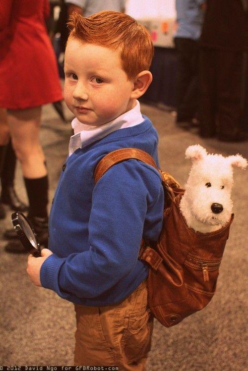 La reencarnación de Tintin... el dibujo cobra vida!!!