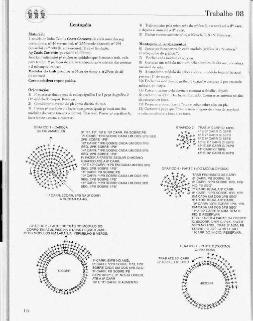 Centopéia de amigurumi #amigurumi - YouTube | 640x504