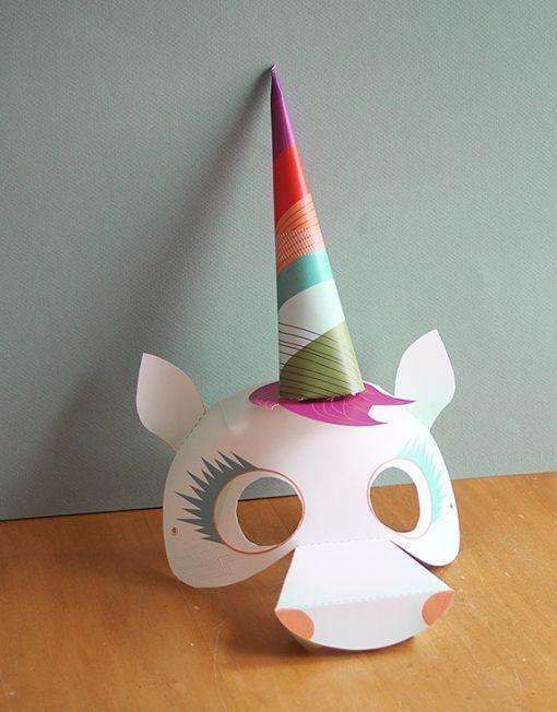 Smallful Printables Unicorn Mask Diy Craft A Perfect