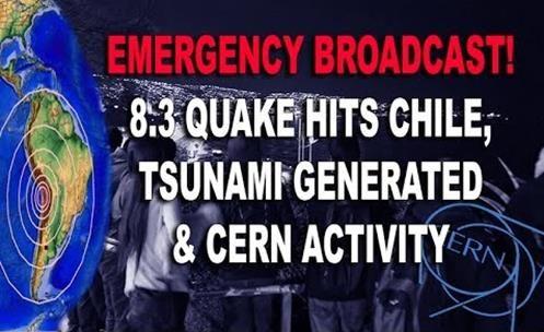 CERN Alcança Potência Máxima bem na Hora do Terremoto e Tsunami no Chile, Coincidência?