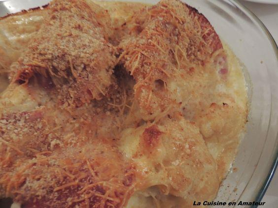 La cuisine en amateur de Maryline: Gratin de chou fleur et jambon