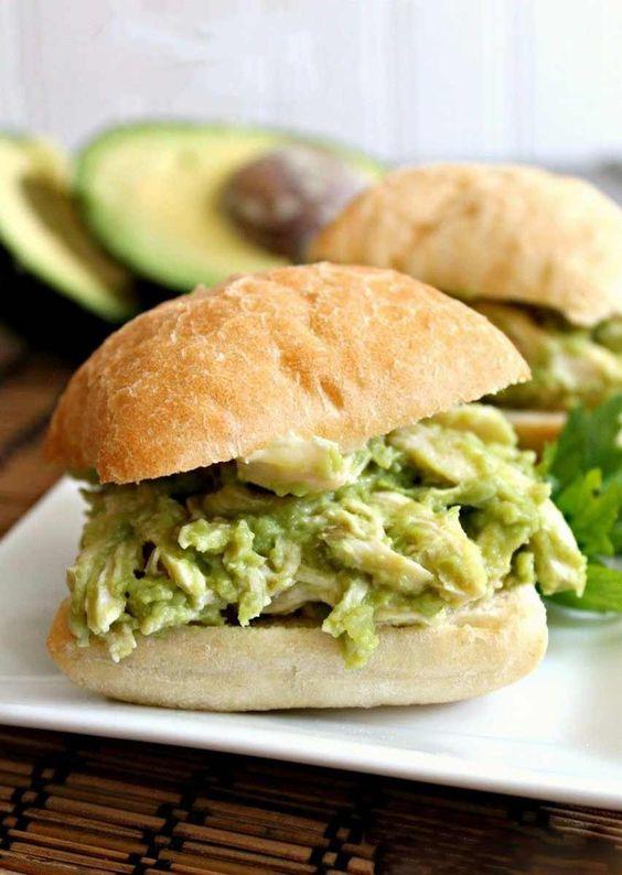 Avocado Chicken Salad Sandwhiches