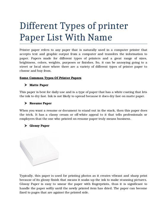 printing resume