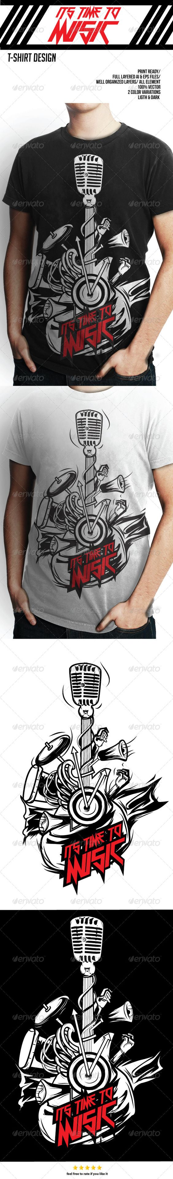 T shirt design jquery - T Shirt Design Music Template Vector Eps Ai Download Here Http