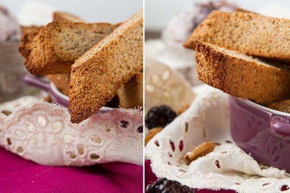 No Sugar Biscotti with Tart Ice Cream #grainfree #vegan #paleo
