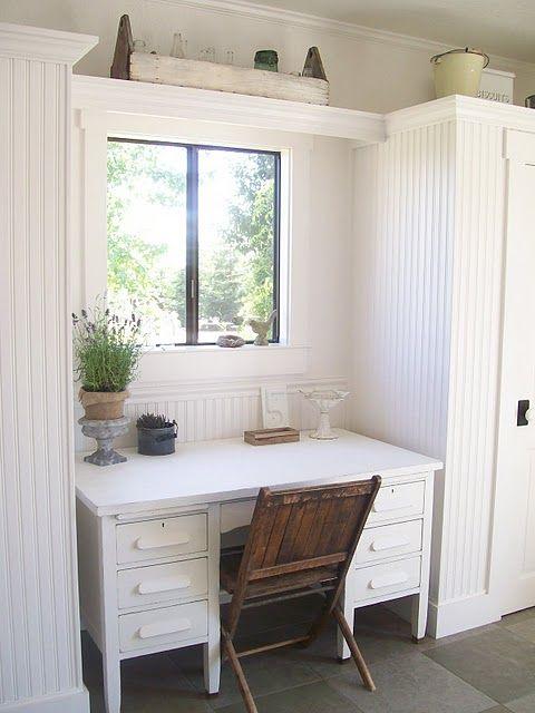 Mudroom desk and storage