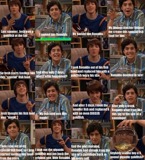 Drake and Josh... hehehehhehe... you have to read it left to right though... it doesn't make sense the other way. just figured that out....