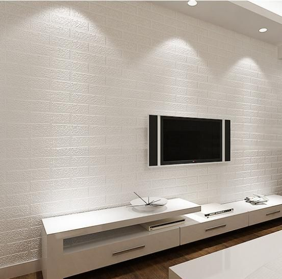 Tv Background Tv Wall Tv Background Wall Home Decoration Furniture Shelf Storag White Brick Wallpaper Brick Wallpaper Living Room White Brick Wallpaper 3d