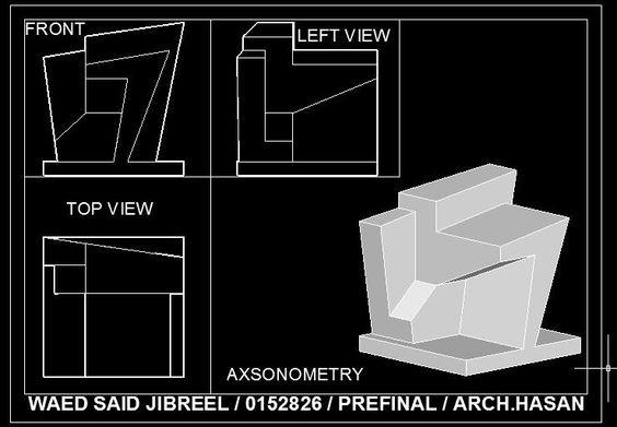 كان عليك أن التقليل من ارتفاع فيوبورت الخطة لاعطاء مساحة اكبر للاسقاطات الرأسية: