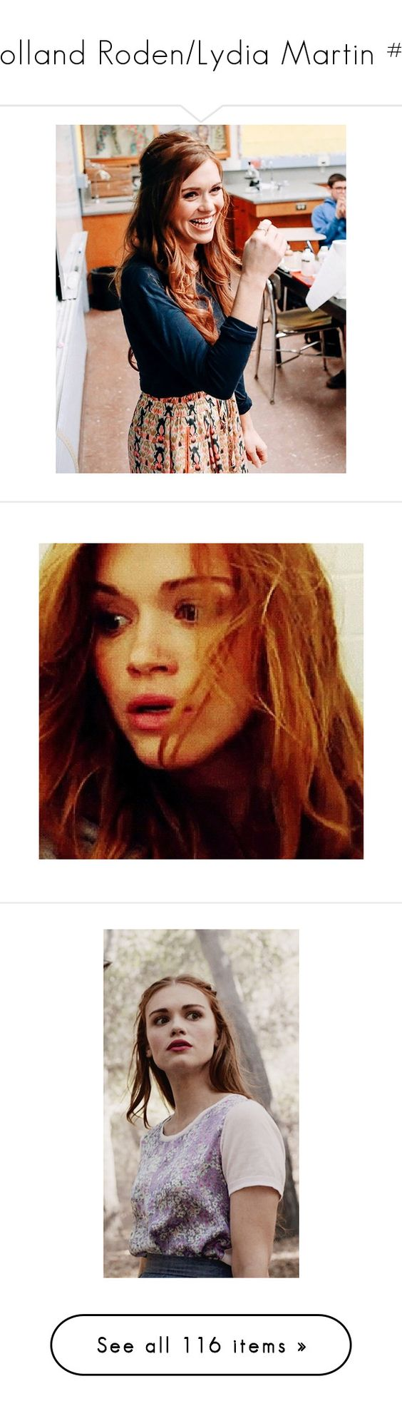 """""""Holland Roden/Lydia Martin #2"""" by nerdbucket ❤ liked on Polyvore featuring holland roden, teen wolf, people, holland, hair, celebrities, girls, home, home decor and models"""