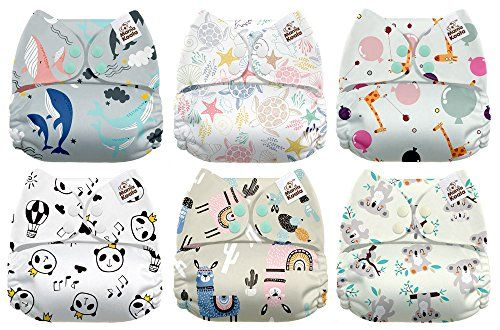 OsoCozy Unbleached Prefold Cloth Diapers 6 Pack