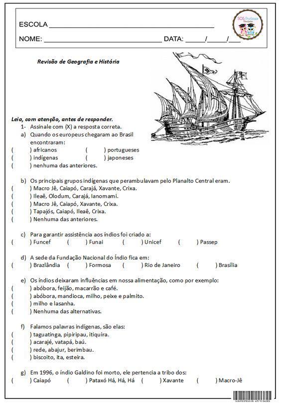 Revisao De Geografia E Historia 2º Bimestre Com Imagens